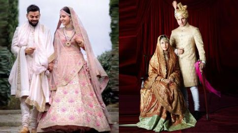 Anushka Sharma-Virat Kohli and Kareena-Saif on their wedding days.