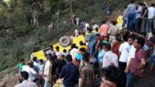 School bus plunges into gorge in Kangra, 24 children dead | In Pictures