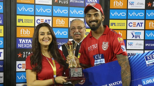 Preity Zinta and KL Rahul (Photo: BCCI)