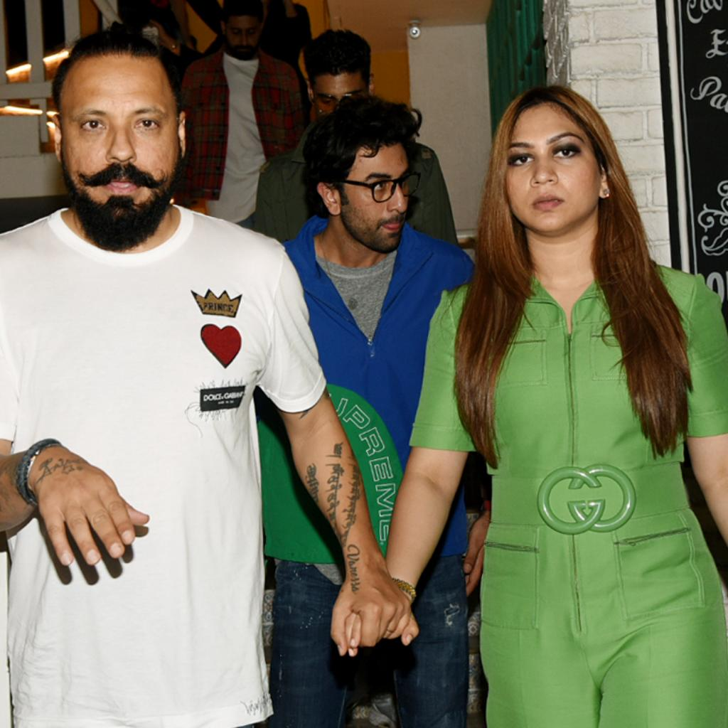 Bunty Walia with wife Vanessa Parmar