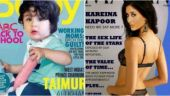 Taimur Ali Khan and Kareena Kapoor Khan in the morphed magazine covers
