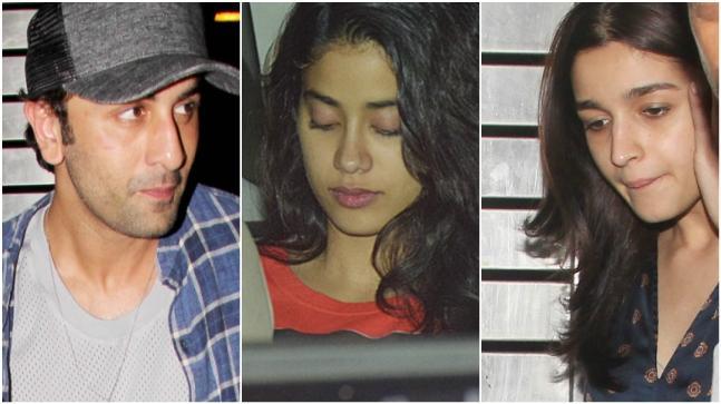 Ranbir Kapoor, Janhvi Kapoor and Alia Bhatt
