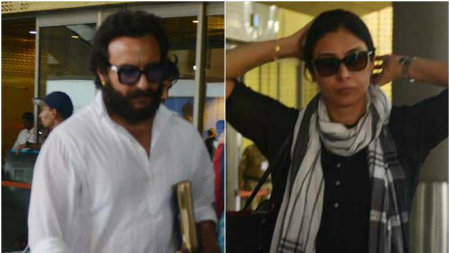 Saif Ali Khan and Tabu