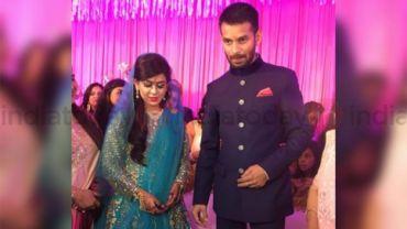 Tej Pratap Yadav with his fiance Aishwarya Rai