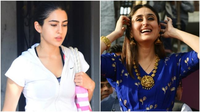 Sara Ali Khan (L) and Kareena Kapoor Khan
