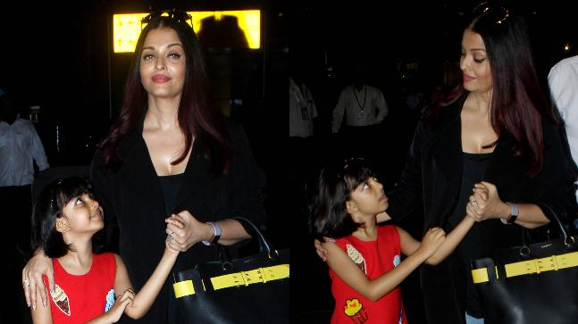 Aishwarya Rai Bachchan and daughter Aaradhya return from Cannes