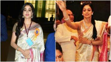 Janhvi Kapoor (L) and Sridevi