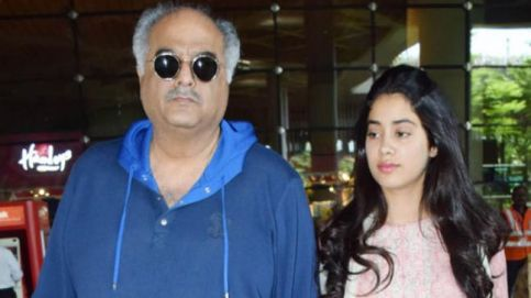Boney Kapoor and Janhvi Kapoor return to Mumbai