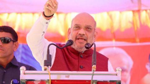 National President of BJP, Amit Shah, addressing rallies in Karnataka
