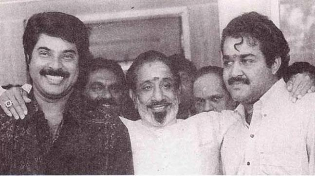 Mohanlal with Sivaji Ganesan and Mammootty
