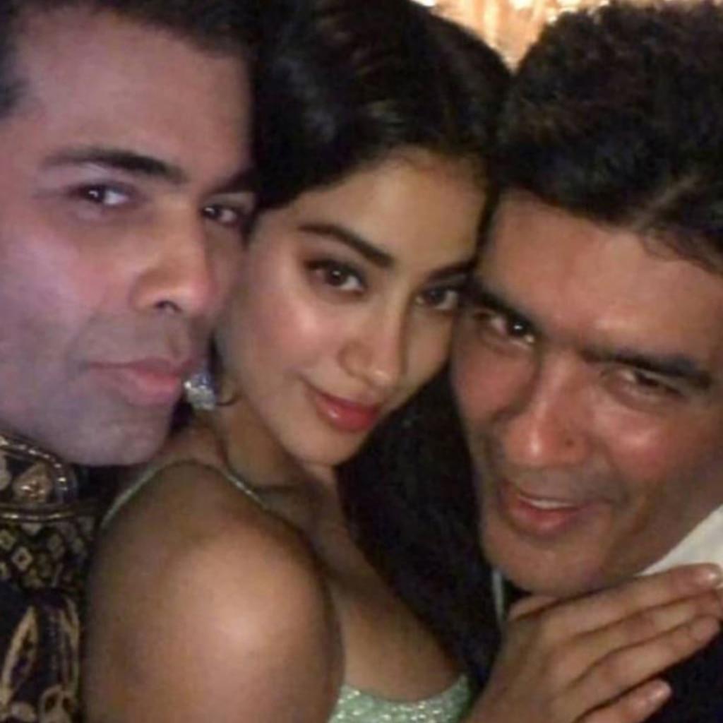 Karan Johar, Janhvi Kapoor and Manish Malhotra