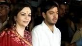 Ambanis present Akash and Shloka's engagement invitation card to Siddhivinayak temple