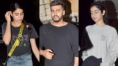 Janhvi Kapoor (L) and Khushi Kapoor at brother Arjun Kapoor's place
