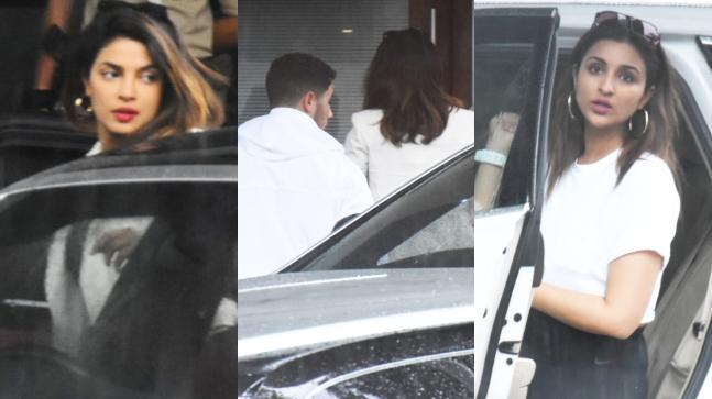 Priyanka Chopra, Nick Jonas and Parineeti Chopra