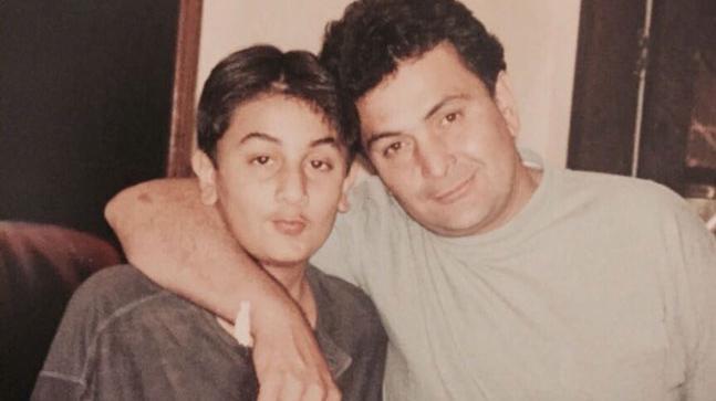 Rishi Kapoor with Ranbir Kapoor
