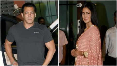 Salman Khan (L) and Katrina Kaif