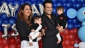 First birthday party of Krushna Abhishek and Kashmera Shah's twins was a star-studded affair