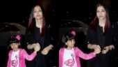 Aishwarya and daughter Aaradhya are all smiles as they leave for Paris
