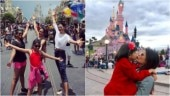 PHOTOS: Aishwarya and Sushmita's day out with their daughters in Disneyland