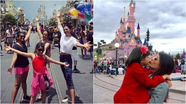 Aishwarya and Sushmita's day out with their daughters in Disneyland
