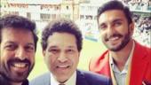 Ranveer Singh, Sachin Tendulkar and Kabir Khan