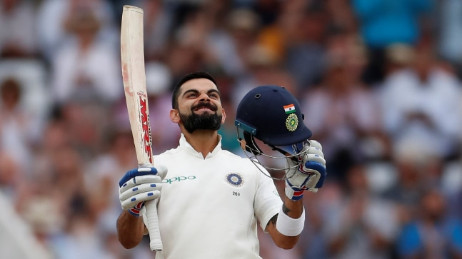 Virat Kohli scored his 23rd Test century as India set England a target of 521 at Trent Bridge.