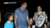 Maanayata Dutt steps out with Sanju and kids Shahraan, Iqra for dinner date