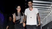 Sunny Leone and Daniel Weber hold hands on their date night