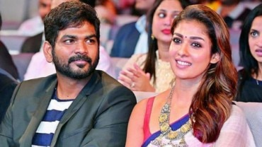 Vignesh Shivan and Nayanthara at an award function