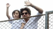 Shah Rukh Khan and AbRam greet sea of fans outside Mannat on Eid. See pics