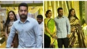 Jr NTR and wife Pranathi look adorable at a wedding. See pics