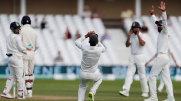 Ajinkya Rahane caught Anderson as India beat England by 203 runs in the third Test at Trent Bridge