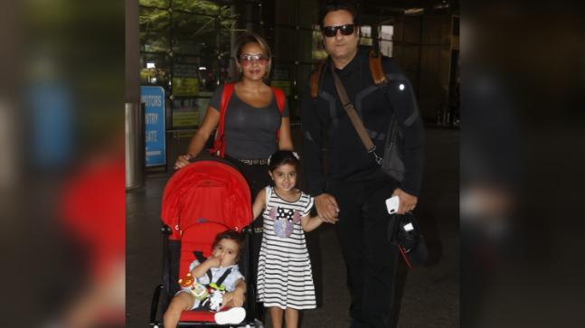 Fardeen Khan with his family