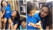 Erica Fernandes plays with her Kuch Rang Pyar Ke Aise Bhi's on-screen son; see pics