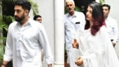 Abhishek and Aishwarya arrive for Rajan Nanda's funeral in Delhi