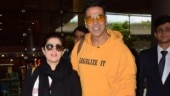 Akshay Kumar and Twinkle Khanna are all smiles as they return from London