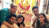 Taimur celebrates Ganesh Chaurthi with Kareena Kapoor and family