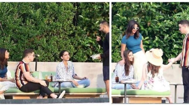 Nick Jonas, Priyanka Chopra, Sonam Kapoor and Anand Ahuja