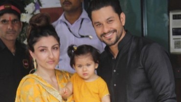Soha Ali Khan at Ganesh Chaturthi