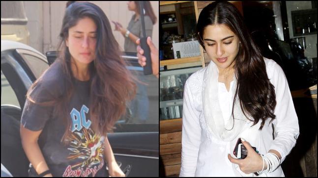 Kareena Kapoor Khan and Sara Ali Khan were snapped in Mumbai