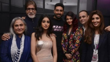 The Bachchan and Nanda family added star power to Shweta Bachchan's fashion label launch