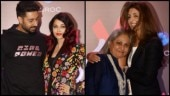 Abhishek Bachchan cannot take his eyes off Aishwarya, Jaya Bachchan hugs daughter Shweta at her store launch