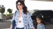Twinkle Khanna and daughter Nitara twin in blue on 2.0 teaser release day