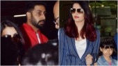 Abhishek receives Aishwarya and Aaradhya at the airport. See pics
