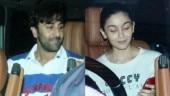 Ranbir Kapoor and Alia Bhatt arrive together to meet Karan Johar