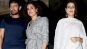 Pataakha: Aamir Khan and Fatima Sana Shaikh join Sanya Malhotra for screening