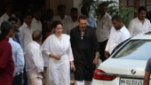 RIP Krishna Raj Kapoor: Emotional Maanayata and Sanjay Dutt at Kapoor bungalow
