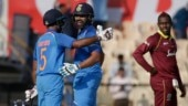 Rohit, Rayudu smash centuries as India crush West Indies by 224 runs at Brabourne