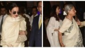 Aishwarya, Jaya Bachchan and Rekha arrive at Krishna Raj Kapoor prayer meet