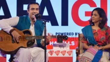 Singers Jubin Nautiyal and Neeti Mohan at Safaigiri 2018